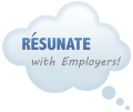 Thought Cloud logo for Resunate by CareerImp